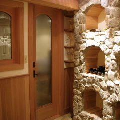 W. Newbury Basement remodel, Wine Cellar & Bar