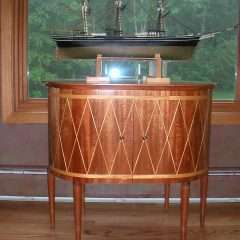 Drum Table with Cabinet